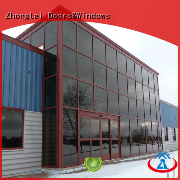 Zhongtai latest glass curtain wall supply for office