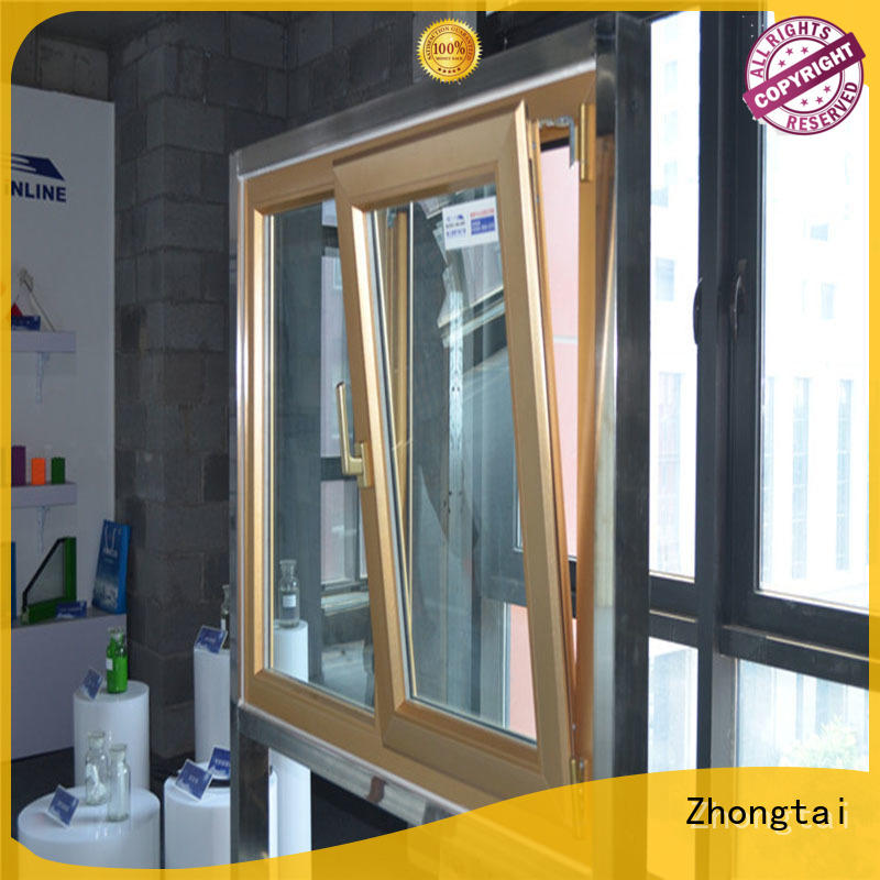 Zhongtai flexibly aluminum windows price for sale for house