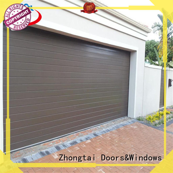 Zhongtai vertical electric garage doors suppliers for commercial streets