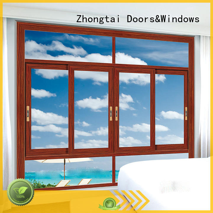 Zhongtai simple aluminium sliding window factory for house