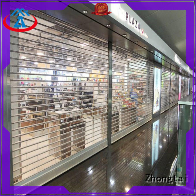Zhongtai High-quality shop shutter prices manufacturers for commercial shop