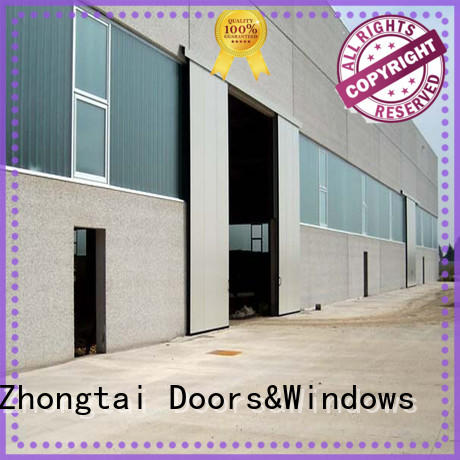 Zhongtai larage industrial sliding door for sale for warehouse