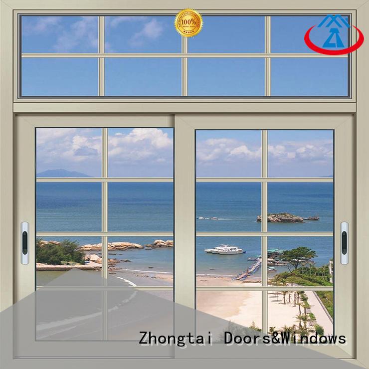 Zhongtai horizontal aluminium sliding window supply for house
