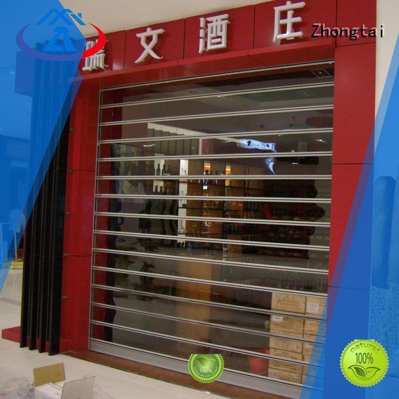 Zhongtai black shop roller doors suppliers for supermarket