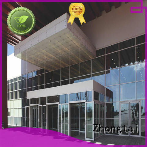 glass resist impacts thermal insulation anti-aging Zhongtai Brand glass curtain wall