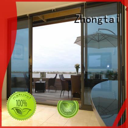 Zhongtai high quality aluminium sliding door supply for villa