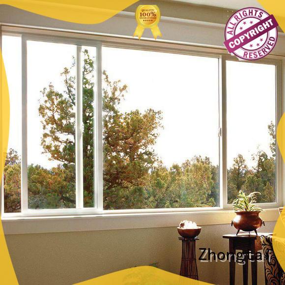 Zhongtai Custom aluminium sliding window factory for villa