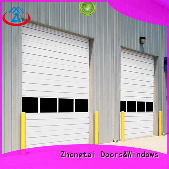 Zhongtai door aluminium shutters supply for garage