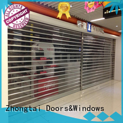 Zhongtai color shop shutter prices for business for window display