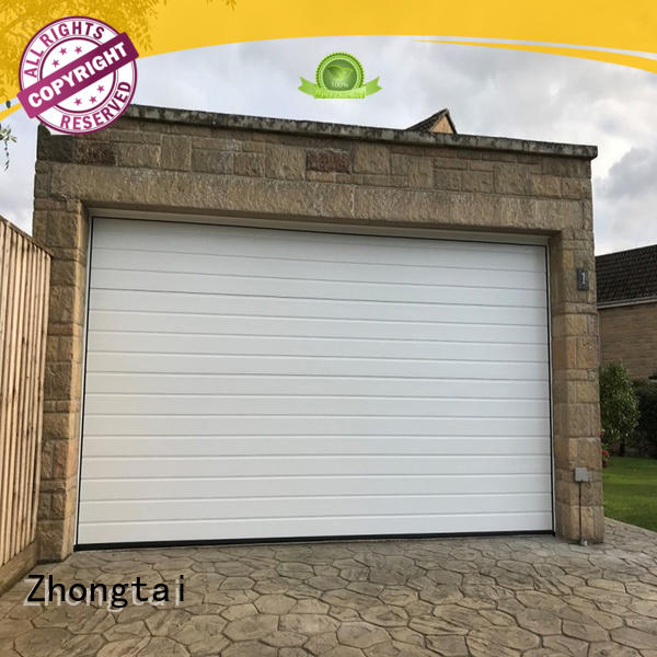 Zhongtai Custom aluminum garage doors suppliers for residential buildings