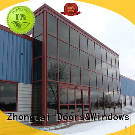 Zhongtai frame glass curtain wall supplier for office