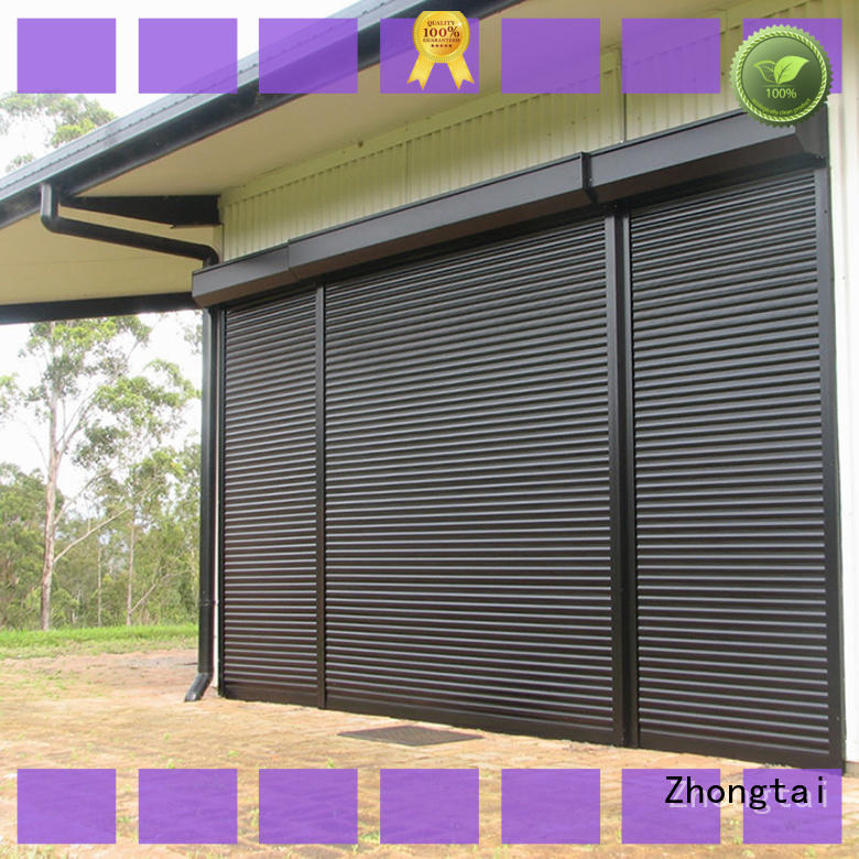 Zhongtai Custom metal shutters manufacturers for garage