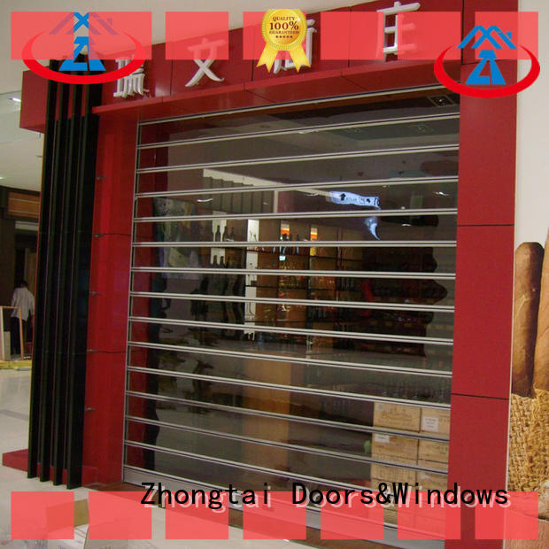 Zhongtai doors shop shutter prices manufacturers for commercial shop