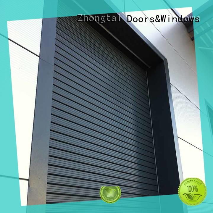 Zhongtai aluminium industrial roller shutter doors supply for factory