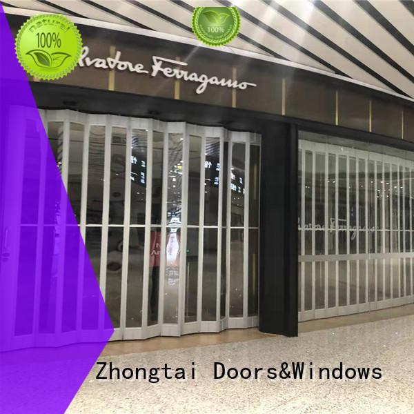 Latest folding door beautiful company for shopping mall