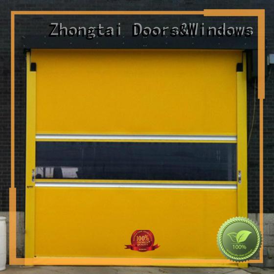 Zhongtai vertical high speed door company for logistics center