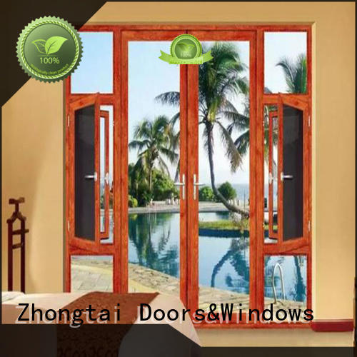 Zhongtai customized aluminium window frames supply for high-grade villas
