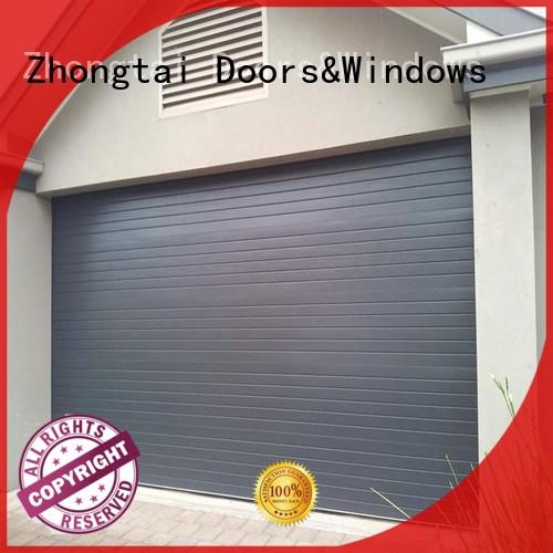 Zhongtai Top roll up garage doors supply for house