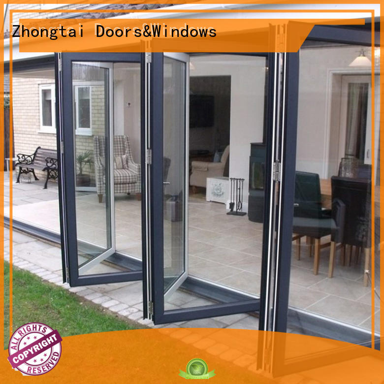 Zhongtai simpleelegant Aluminium Folding Door factory for house