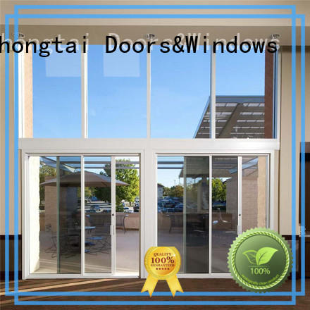 Zhongtai door aluminium sliding door supply for office