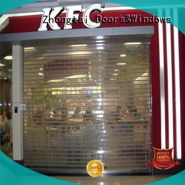 Zhongtai door shop roller shutters supply for supermarket