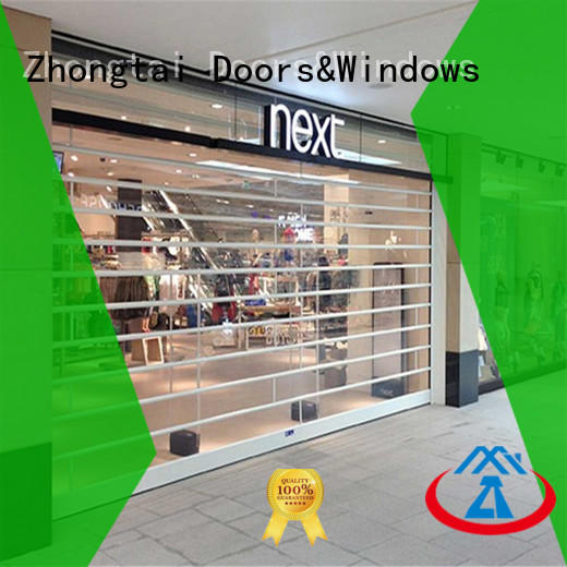 Zhongtai hours shop roller shutters company for commercial shop