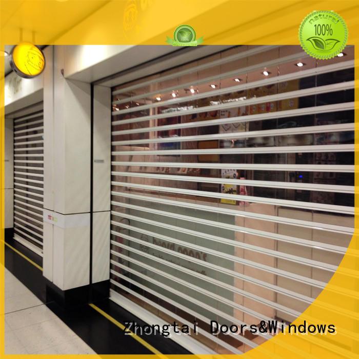 Zhongtai durable shop roller shutters suppliers for shop