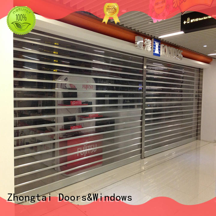 Zhongtai stainless shop roller doors factory for shop