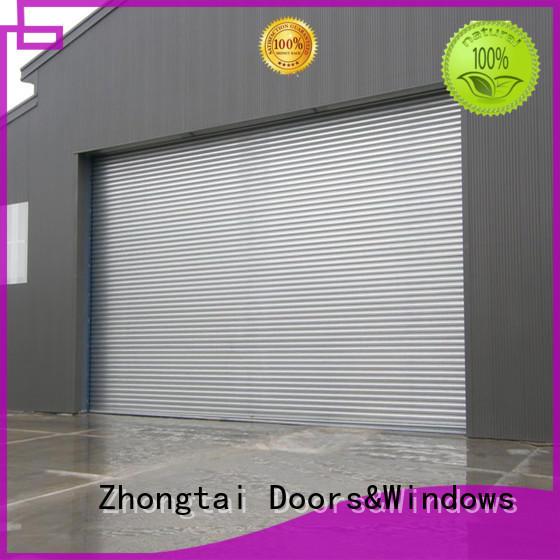 Zhongtai warehouse impact doors supply for garage