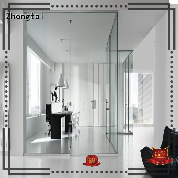Zhongtai door Frameless Glass Door for business for indoor