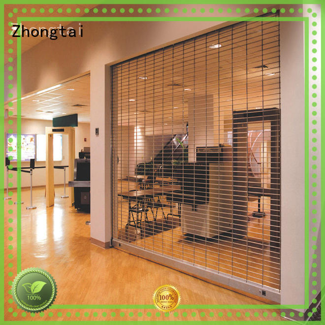 Zhongtai vertical security shutters with high quality for bank