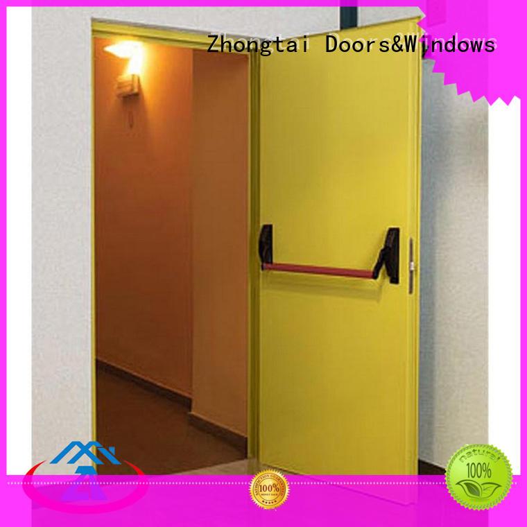 Zhongtai proof garage fire door company for indoor