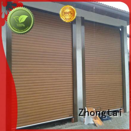 Zhongtai slat hurricane doors manufacturers for house