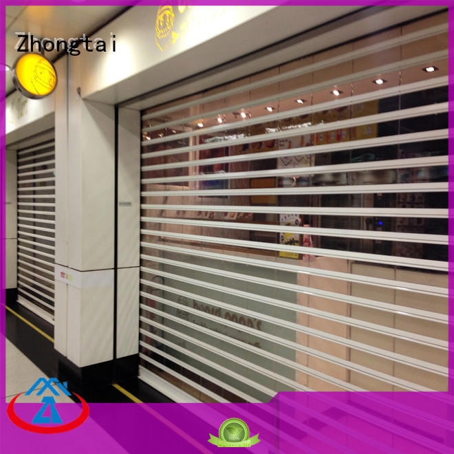 Zhongtai hours shop roller shutters manufacturers for commercial shop