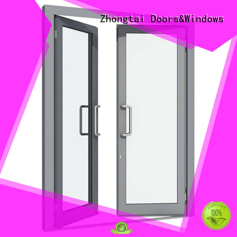 Zhongtai double aluminium windows prices suppliers for house