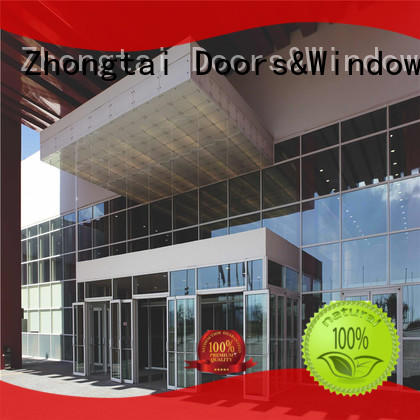 Zhongtai frame glass curtain wall suppliers for office