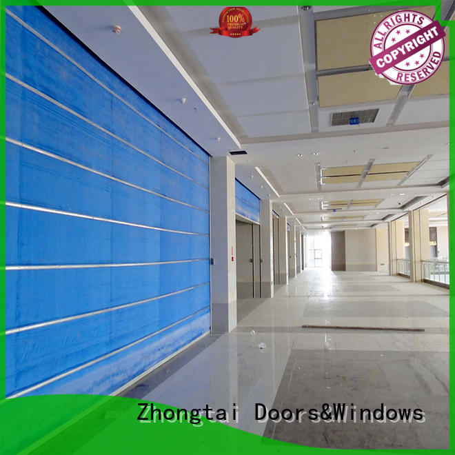 Zhongtai lateral fire safety door for sale for hypermarkets