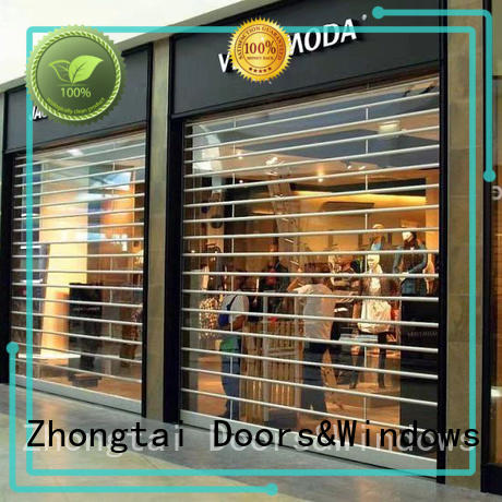 Zhongtai Custom shop shutter prices manufacturers for window display