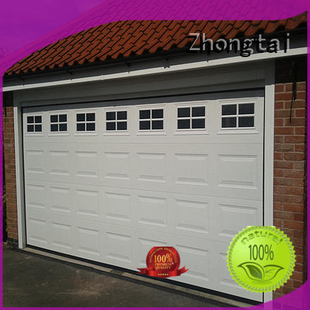 Zhongtai sound roll up garage doors factory for garage