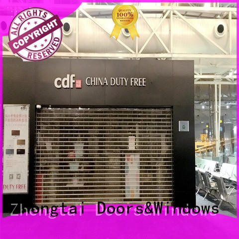 Zhongtai vision shop roller shutters suppliers for clothing store