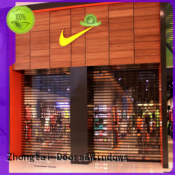 Zhongtai vision shop shutter prices suppliers for window display