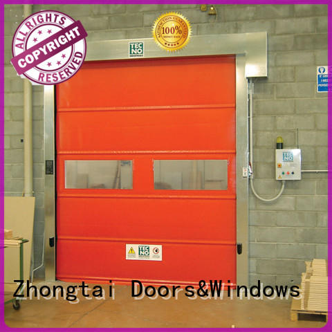 Zhongtai opening high speed doors supply for factory
