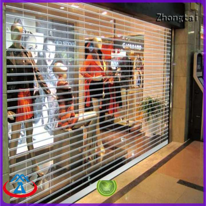 Zhongtai shopping shop roller shutters for business for commercial shop