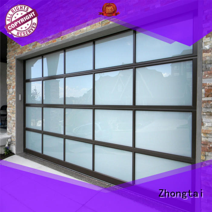 Zhongtai galvanized roll up garage doors manufacturers for house