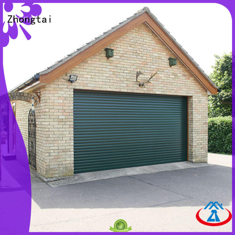 electric aluminum garage doors sectional supply for residential buildings